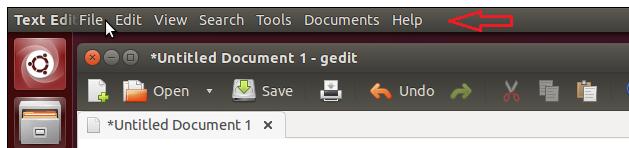 global menu ubuntu