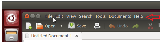 Ubuntu local menu