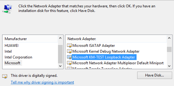 Microsoft KM-TEST Loopback Adapter