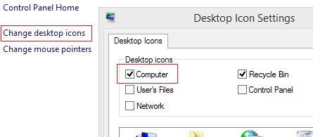 enable 'This PC' shortcut